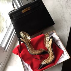 $500+Ship! CL Malaika PVC Pump Size EU38/7.5 Looking for $515 total! Not Posh-100% AUTHENTIC AMAZING PREOWNED CONDITION!! Malaika PVC (Look at soles REPLACED WITH NON SLIP SOLES TO PROTECT THEM) (view pics)*Size EU 38,FIT US 7.5 WELL OR LARGE SIZE 7 - Retail For $1000+ *100 mm Heel *COMES WITH ORIGINAL DUST BAG & A C. LOUBOUTIN BOX (not original box but IT IS C. LOUBOUTIN) *Patent leather *Insoles are a little worn but only worn a few times(view soles for proof)*Item comes shipped FedEx…