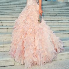 I like this for a regular gown--Pink Wedding Dress  *Lovely Clusters - The Pretty Blog: Mood Board: Soft Blue and Pink