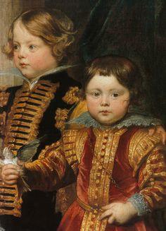 Die Balbi-Kinder. c.1625-7(detail)  Sir Anthonis van Dyck (Dutch, 1599-1641)    Antwerpen 1599 - London 1641)
