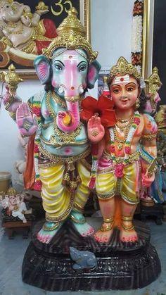 Ganesh n Muruga Sri Ganesh, Lord Shiva Family, Sri Rama, Ganpati Bappa, God Of War, Gods And Goddesses, New Beginnings, Deities, Krishna