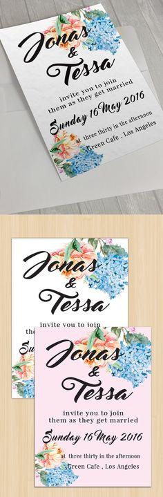 Floral Wedding Card II by goodigital13 on @creativemarket