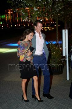 29 April :Crown Princess Mary, Prince Joachim and  Princess Marie attend the comedic show Platt-Form at the Glass Hall Theatre in Tivoli
