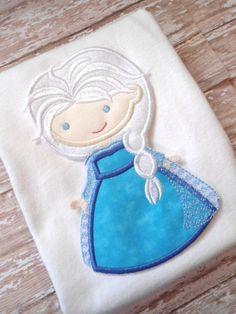 Elsa Princess Shirt - Embroidered Shirt - Disney Applique Shirt - Girls Shirt - CUSTOM - 2T to Adult XL by littledebsdresses, $24.00