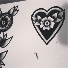 Black garden III #tattoo #oldschool #traditional #heart #love #girly #artwork #draw