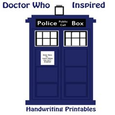 Dr. Who handwriting pages 8)