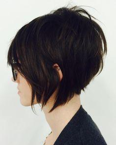 "594 Likes, 36 Comments - Bridget Marie Jones (@hair.roullete) on Instagram: ""Textured a-line, a great cut to create volume!! #shorthair #aveda #salonbreezechapelhill…"""