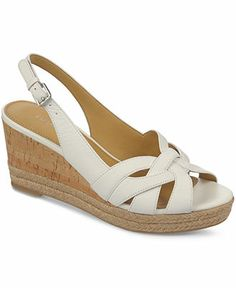 Franco Sarto Kris Platform Wedge Espadrille Sandals - Sandals - Shoes - Macy's Espadrille Sandals, Strap Sandals, Women's Shoes Sandals, Wedge Shoes, Shoe Boots, Wedge Sandals, Fashion Sandals, Sneakers Fashion, Sensible Shoes