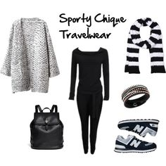 """Sporty Chique Travelwear"" by ayla-kroet on Polyvore"