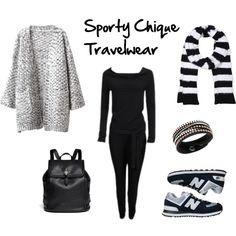 """Sporty Chique Travelwear"" by ayla-kroet on Polyvore"