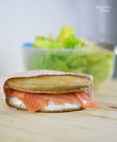 Sandwich de blini de sarrasin au fromage frais et au saumon   4 déjeuners healthy et IG bas à emporter 4 healthy lunchboxes ideas