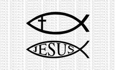 Jesus Fish SVG for Download by DakotasDecals on Etsy