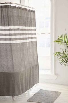 4040 Locust Miyo Yarn Dye Shower Curtain - Urban Outfitters