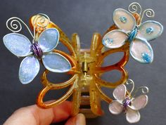 Craft Ideas Using Wire, Glue and Finger Nail Polish-butterfly-hair-clip ...