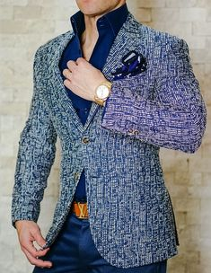 One of our most epic sport jackets. The tweed Blu Cascata! Get yours today. #sebastiancruzcouture