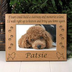 Poodle Memorial Dog Frame