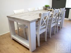 """Reclaimed Look Dining Table """"Boston"""" in Naperville Farmhouse Table Plans, Table, Home, Ibiza Style Interior, Furniture, Cozy House, Farmhouse Style Dining Room, Dining Table, Outdoor Furniture Sets"""