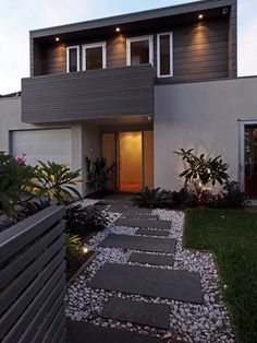 Manly House, Contemporary Entry, Sydney