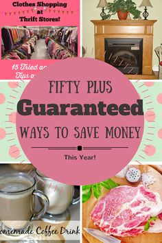 These 50 plus tips are guaranteed ways to save money this year! Since living mostly on one income for the last 20 years, I've learned how to save on everything!