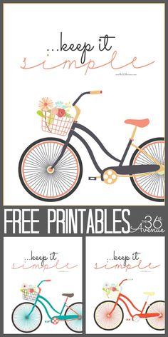 My life is much easier when I keep it as Simple as possible! Love this Free Printable. Keep it Simple at the36thavenue.com
