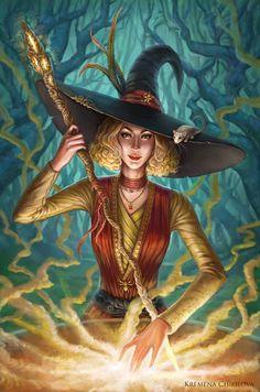 Halloween Witch by krewi.deviantart.com on @DeviantArt #TheWitchingHour