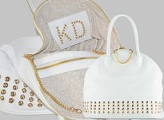 Airport m Glamour White Natural Leather Made in Italy