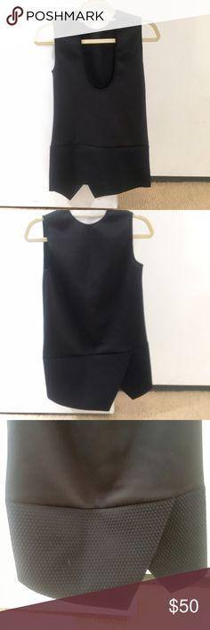 Neil Barrett neoprene tunic Black asymmetrical tunic with a honeycomb pattern on the bottom. Worn once. Neil Barrett Tops Tunics