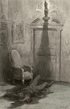 Gustave Dore Final illustration for The Raven