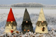 gnomes for school holiday party craft.  Site is in Dutch, so must figure out for myself.