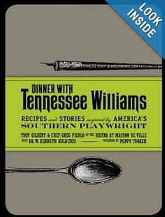 Dinner with Tennessee Williams cookbook