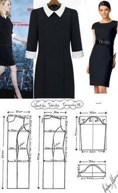 Con estos patrones, hacer tu propio vestido negro de coctel, es muy fácil. #DIY #dress