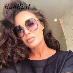 57e280c6a0 2018 New Women Luxury Brand Design Square Sunglasses Retro Big Frame Sun  Glasses Female Shades Leopard Sun Glasses UV400 1186R