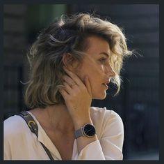 Zanita wearing the Larsson & Jennings Matte Silver Watch. Back Steps, Larsson & Jennings, Fashion Mag, Take That, Street Style, Seasons, Unisex, My Style, Celebrities