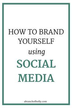 Social media is so important for your brand. It helps to bring everything together. It helps you to develop more of a personal identity, establish your expertise and stand out.You want to be everywhere. But when someone comes across you on social media, how will they know they've found who they're looking for? How will they know they've found you?BY BRANDING.