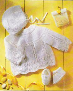 modele tricot gratuit layette bergere de france | Layette | Pinterest | Modele tricot gratuit ...