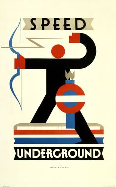 Speed Underground, by Alan Rogers, - Poster Art London Underground's Greatest Designs. A major exhibition at London Transport Museum opening on 15 February 2013 in celebration of anniversary of the Underground. Retro Poster, Art Deco Posters, Poster S, Vintage Travel Posters, Poster Prints, Bike Poster, Deco London, London Art, London Underground