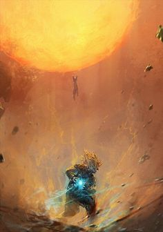DBZ: Goku vs. Frieza Also see #fantasy pics…
