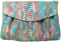 How cool is this Mel Boteri Ultramarine Snake-Effect Lola Clutch on bagservant.co.uk?!