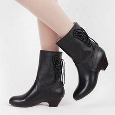 春秋冬季新款全牛皮中跟单靴中筒短靴真皮靴子女单鞋棉靴大码2015