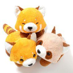 picture of Yochi-yochi Lesser Panda-chan Red Panda Plush Collection (Big) 2 Sewing Stuffed Animals, Cute Stuffed Animals, Beanie Babies, Sewing Crafts, Sewing Projects, Mode Shop, Cute Plush, Cute Toys, Diy Pillows