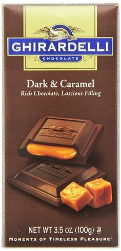 Ghirardelli Chocolate Bar, Dark & Caramel, 3.5-Ounce Bars (Pack of 6) - http://bestchocolateshop.com/ghirardelli-chocolate-bar-dark-caramel-3-5-ounce-bars-pack-of-6/