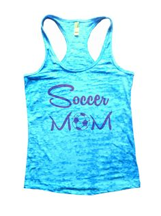 Soccer Mom Burnout Tank Top By Funny Threadz - 658