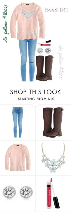 """""""Go follow @ll1021 Read D!!"""" by purplemolly1 ❤ liked on Polyvore featuring Frame Denim, Frye, J.Crew, Michael Kors, Bare Escentuals and shoutoutsetsbymo"""