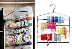 Ribbon Storage Hanger - Craft Storage Ideas | Crafts Room Furniture | Bead Storage Boxes & Containers