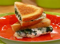 Italian-Style Grilled Cheese with Spinach Sandwiches.  This is so good!  It's really bad for you so it should only be a special occasion sandwich but definitely worth it!