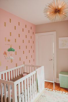 Dusty rose and copper. Ada's room?