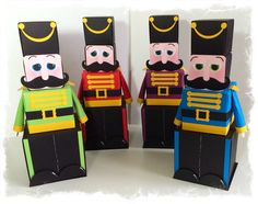 Nutcrackers designed and made by Tracey Grundy - Independent Stampin' Up! Demonstrator using the SU! Gift Box Punch Board