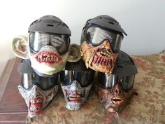 Zombie paintball masks