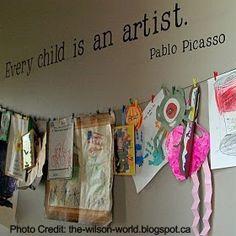 Hang 'Em High  | 11 Ways to Organize Kids' Art