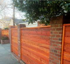 9 Discerning Clever Hacks: Bamboo Fence On Deck concrete fence lighting.Picket Fence Vines aluminum fence with wood posts. Gabion Fence, Fence Planters, Brick Fence, Front Yard Fence, Farm Fence, Bamboo Fence, Fenced In Yard, Fencing, Fence Gates