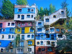 the Hundertwasserhaus in Vienna, Austria